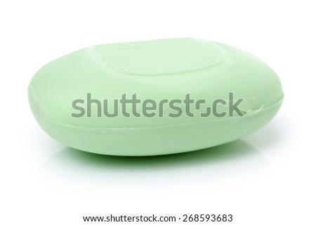 hygiene soap on white background  - stock photo