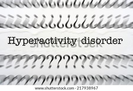 Hyperactivity disorder - stock photo
