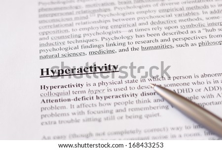 hyperactivity - education or health care background - stock photo