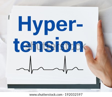 Hypertension - stock photo