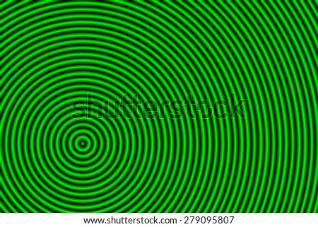 hypnosis green background - stock photo