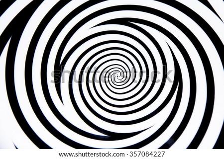 Hypnotic circle - stock photo