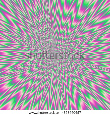 Hypnotic colorful optical illusion of eyecatching tunel - stock photo
