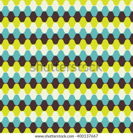 Hypnotic Seamless Pattern Background. Illustration.  - stock photo