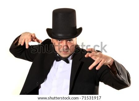 Hypnotist is practicing hypnosis - stock photo