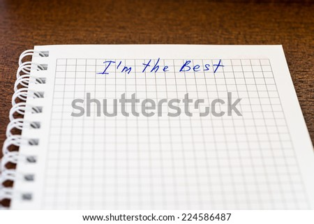 I am the best - stock photo