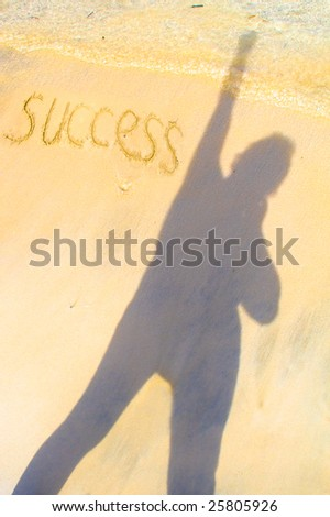 I am the winner, success is mine! - stock photo