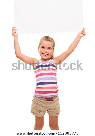 I can hold this piece of cardboard where could be your advertisement or logo of your company - stock photo