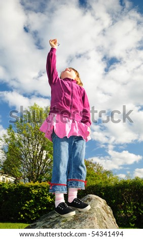 I can reach the sky - stock photo