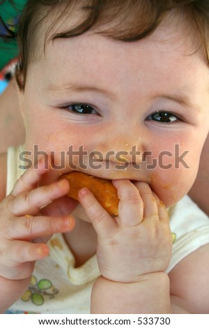 I could eat my fingers with that! - stock photo