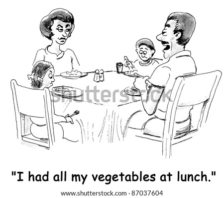 I had all my vegetables at lunch - stock photo