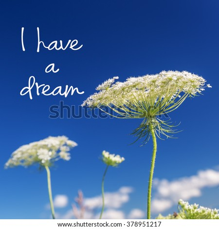 I have a dream Martin Luther King Jr. inspirational quote. - stock photo