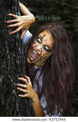 I have come to you. Horror Scene. - stock photo