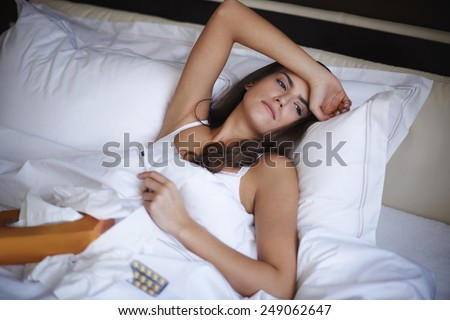 I have to spend this day in bed   - stock photo