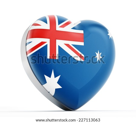 I love Australia heart shaped Australia flag. - stock photo