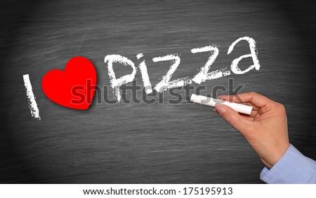 I love Pizza - stock photo