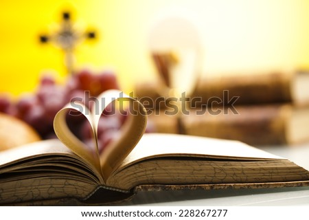 I Love religion  - stock photo