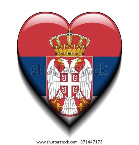 I love Serbia - stock photo