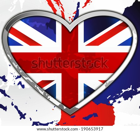 I love UK raster background - stock photo