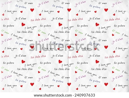 I love you international - stock photo