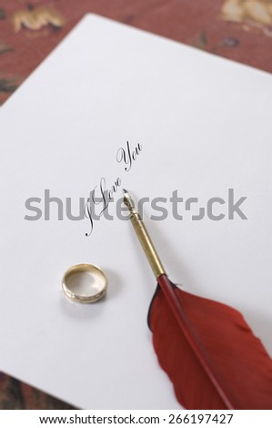 I Love You Note  - stock photo