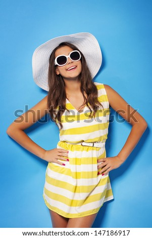 I'm ready for summer time  - stock photo