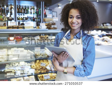 I'm waiting for delivery of fresh ingredients - stock photo
