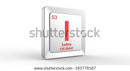 I symbol 53 material for Iodine chemical element of the periodic table - stock photo