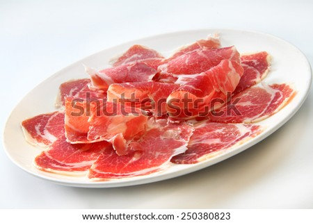 iberian ham - stock photo