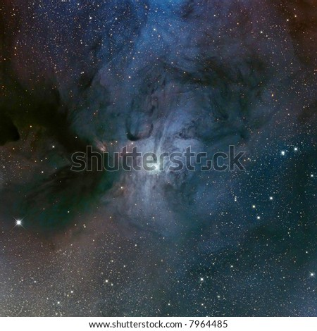 IC 4603 dusty nebular complex in Scorpius - stock photo