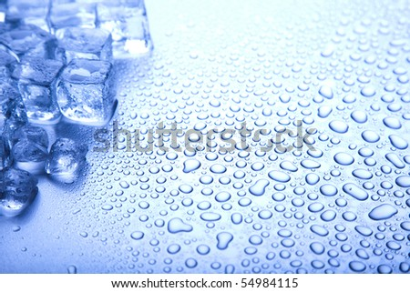 Ice, and cubes - stock photo