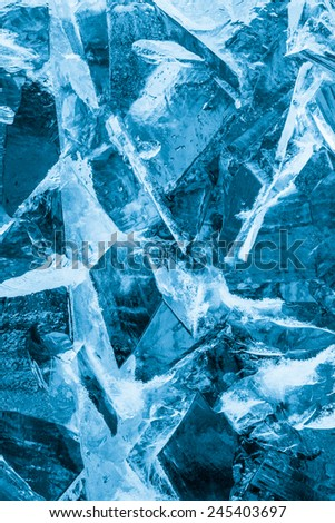 Ice and snow winter abstract - stock photo