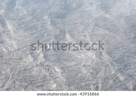Ice background/shallow depth of field - stock photo