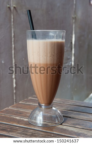 Ice blended milk tea - stock photo