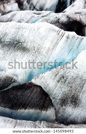 ice blocks, Vatnajokull glacier, Iceland - stock photo
