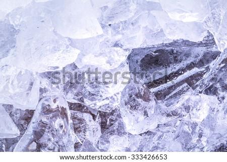 ice brick stacked together studio shot - stock photo