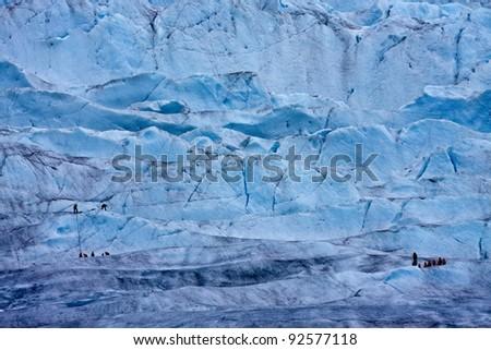 Ice climbers - stock photo