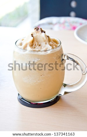 ice coffee blend for refreshing - stock photo