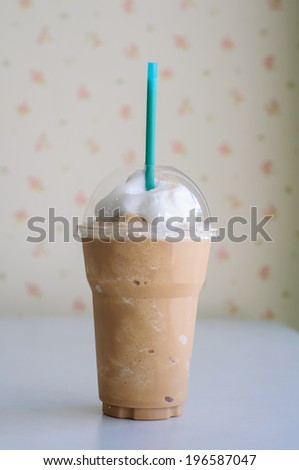ice coffee in cafe - stock photo