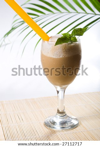 ice cold coffee drink - stock photo