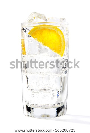 ice cold drink in studio on white background - stock photo