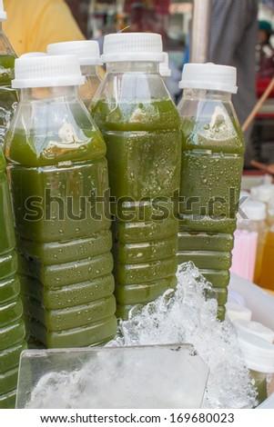 Ice Cold Juice Bottle - stock photo