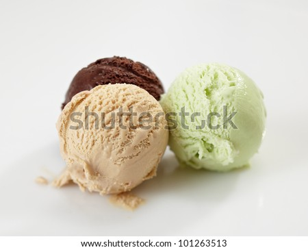 ice cream balls - stock photo