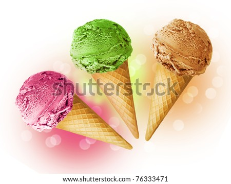 Ice cream cone - stock photo