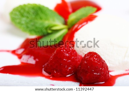 ice cream dessert food - stock photo