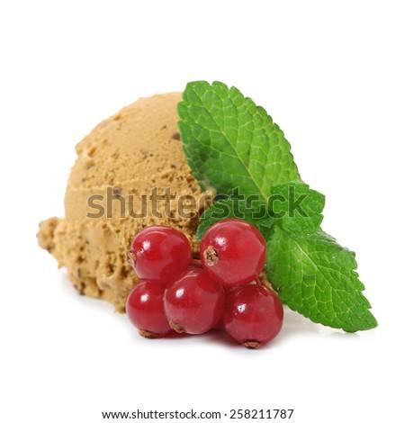 ice cream white background - stock photo