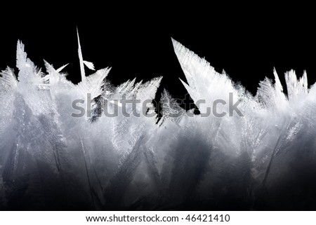 Ice crystal - stock photo