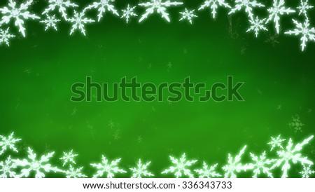 Ice crystal snowflakes of overlay background for Christmas celebration theme - stock photo