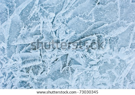 ice crystals - stock photo
