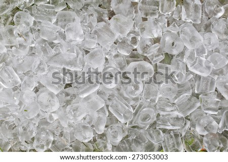 ice cube background and textures - stock photo